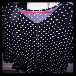 Womens polka dot shirt